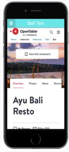 Bali Taxi Restaurant Search