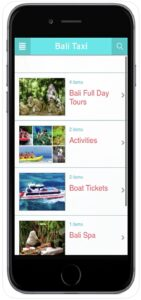 Bali Taxi Tours and Activities Search