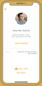 BaliCab Trans Tours And Travels mobile app ride sharing in Bali mobile app ride sharing in Bali